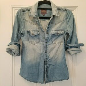 Joe's Jeans Distressed Denim Shirt